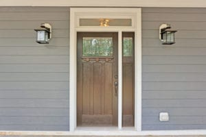 luxury custom home exterior door