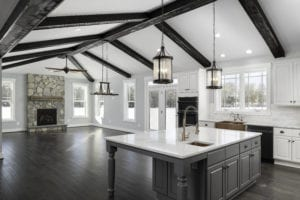 kitchen of custom home