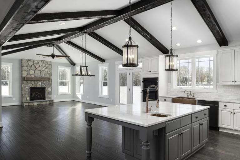 kitchen of custom home