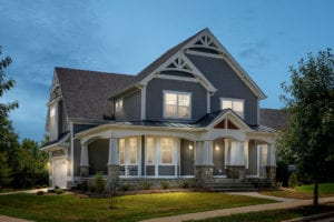stunning front of custom home