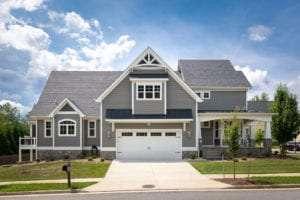 garage view of custom home built by True Living