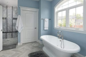 tub in bathroom inside the house