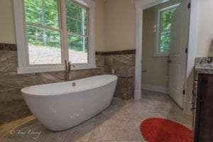bathtub inside bathroom built by True Living
