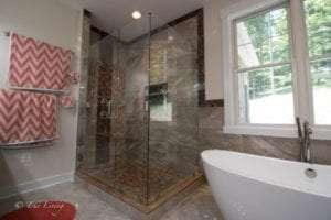 bath tub and shower view of bathroom