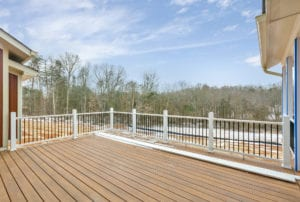back deck of True living home