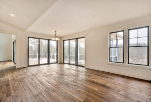 Family room with big doors and windows