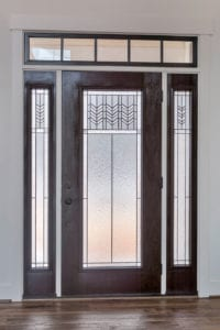 front door of custom home