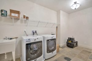laundry room in custom home