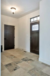 mud room entry of custom home