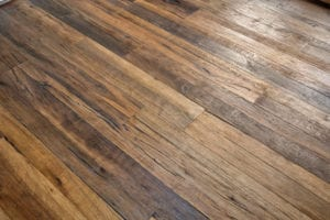 wood floor in custom home
