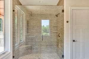 bathroom with custom shower