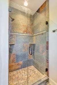 shower in custom home