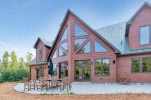 exterior view of custom home