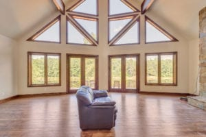 glass doors view of living room