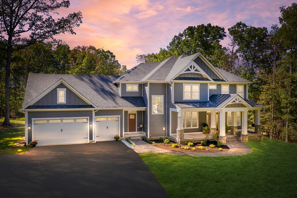 front of custom home built by True Living