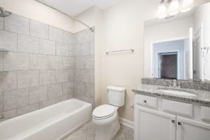 bathroom in basement
