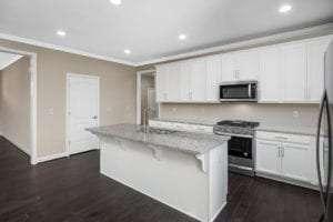 corner picture of kitchen island