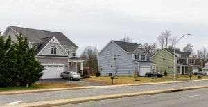 custom houses in a row
